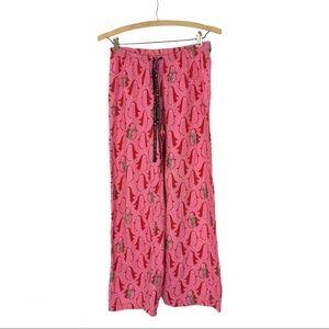 Hue Pink Pajama Pants Penguin Graphic Black S
